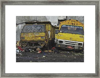 Use And Throw Framed Print by Achmad Bachtiar
