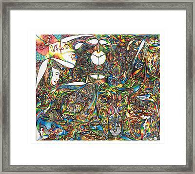 Use Infinity Framed Print by diNo