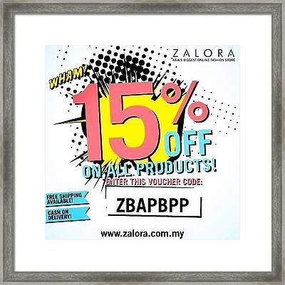 Use This Code Zbapbpp For 15% Off Next Framed Print