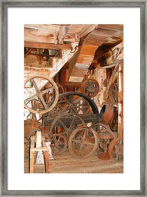 Used Parts As Art  Framed Print