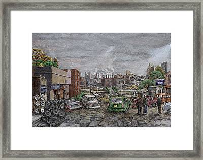 Used Tires Framed Print