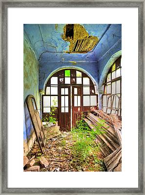 Used To Be A Temple Once Upon A Time Framed Print by Eti Reid