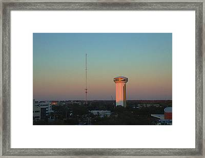Usf Watertower Framed Print
