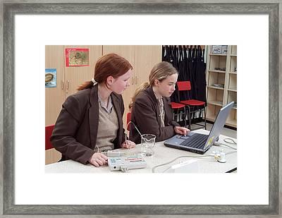 Using Data Logging Equipment Framed Print