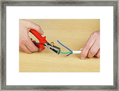 Using Wire Strippers Framed Print by Dorling Kindersley/uig