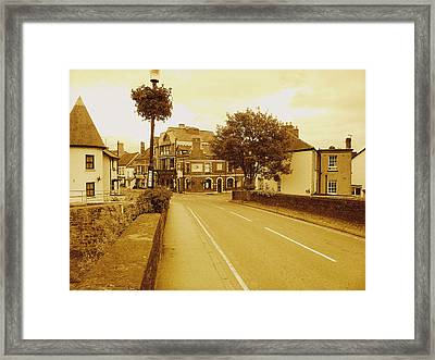 Usk Bridge Wales Framed Print