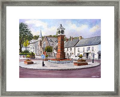Usk In Bloom Framed Print by Andrew Read