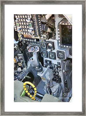 Usmc Av-8b Harrier Cockpit Framed Print