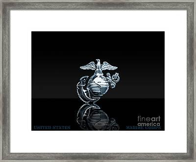 Usmc Framed Print by Marines