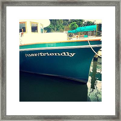 Usr Friendly Framed Print