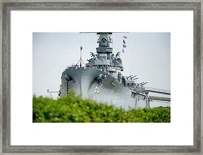 Framed Print featuring the photograph Uss Alabama 2 by Susan  McMenamin