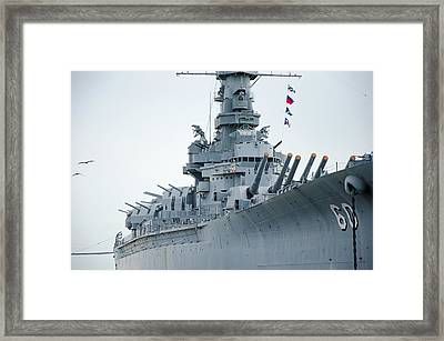 Framed Print featuring the photograph Uss Alabama 3 by Susan  McMenamin