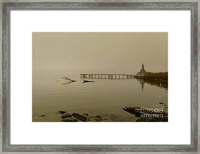 Uss Alabama Framed Print by Russell Christie