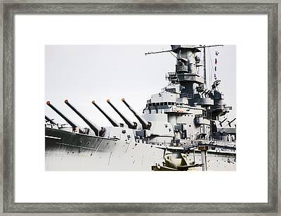 Framed Print featuring the photograph Uss Alabama by Susan  McMenamin