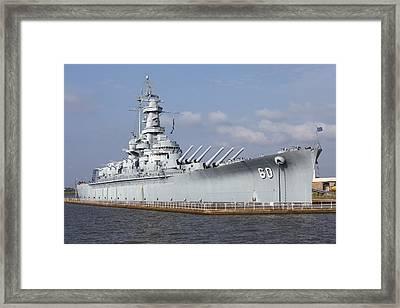 Uss Alabama, World War II Battleship Framed Print
