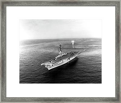Uss Antietam During Project Strato-lab Framed Print by Stocktrek Images