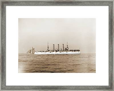 U.s.s. Brooklyn, Brooklyn Cruiser, Cruisers Warships Framed Print by Litz Collection