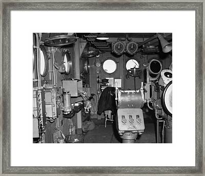Uss Bunker Hill: Interior Framed Print