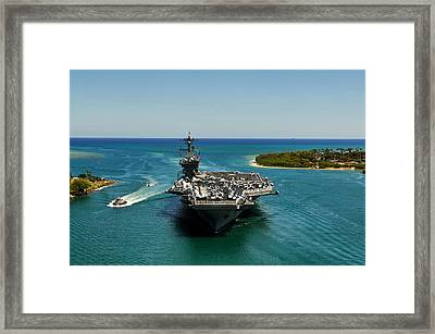 Uss Carl Vinson Framed Print by Mountain Dreams