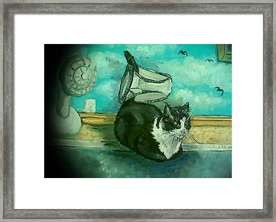 Uss Catboat Framed Print by Alexandria Weaselwise Busen