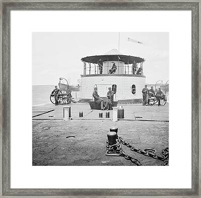 Uss Catskill Framed Print by Library Of Congress