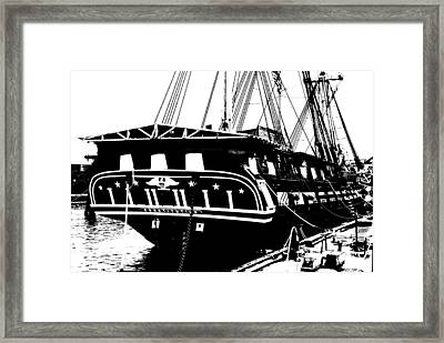 Uss Constitution Framed Print by Charlie and Norma Brock