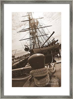 Uss Constitution Framed Print by Catherine Reusch Daley