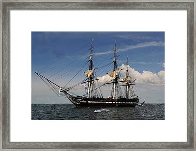 Uss Constitution - Featured In Comfortable Art Group Framed Print
