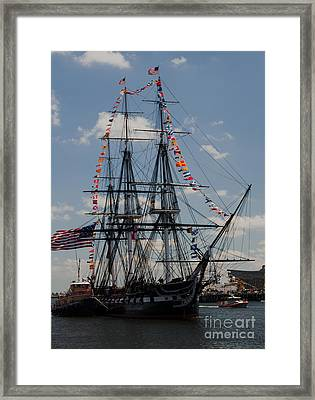Framed Print featuring the photograph Uss Constitution by Mike Ste Marie