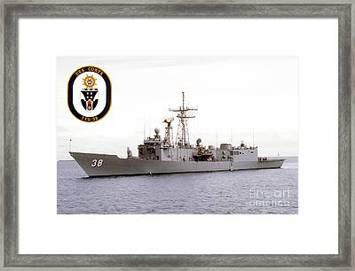 Uss Curts Framed Print by Baltzgar