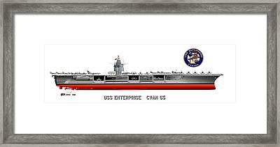 Uss Enterprise Cvn 65 1969 Framed Print by George Bieda
