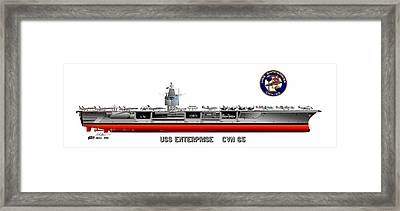 Uss Enterprise Cvn 65 1975- 1981 Framed Print by George Bieda