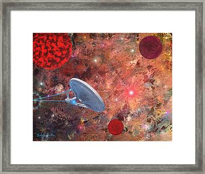 U.s.s Enterprise -orion  Framed Print by Michael Rucker
