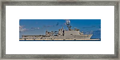 Uss Fort Mchenry Framed Print