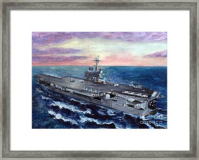 Uss George H.w. Bush Framed Print