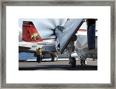Uss George H.w. Bush Framed Print by Seaman Michael Smevog