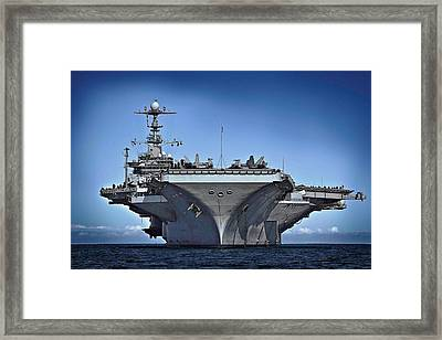 Uss George Washington Framed Print