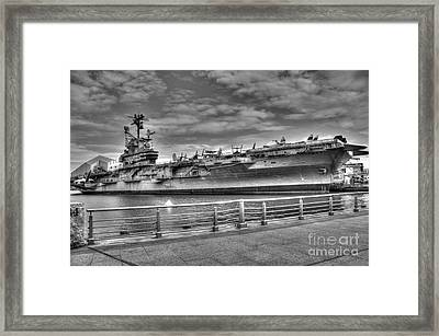 Uss Intrepid Framed Print by Anthony Sacco