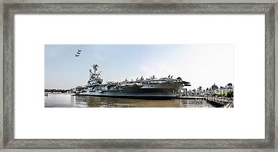 Uss Intrepid Sea-air-space Museum In New York City.  Framed Print