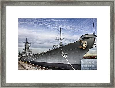 Uss Iowa Framed Print