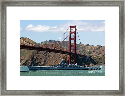 U.s.s. Iowa Up Close Framed Print