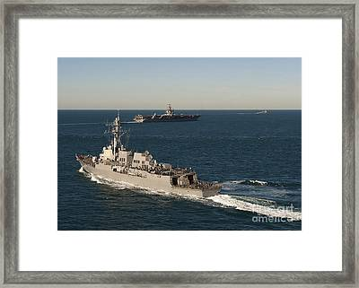 Uss James E. Williams Is Underway Framed Print by Stocktrek Images