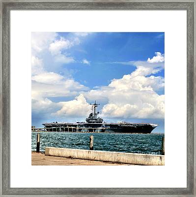 Uss Lexington  Framed Print
