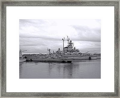 Uss Lionfish Bw Framed Print by Barbara McDevitt