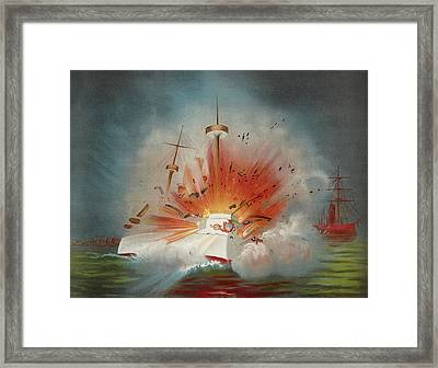 Uss Maine Circa 1898  Framed Print by Aged Pixel