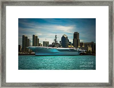 Uss Midway Museum Cv 41 Aircraft Carrier Framed Print by Claudia Ellis
