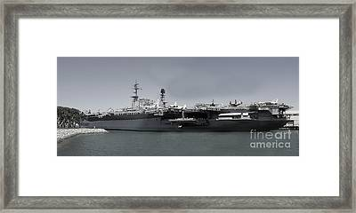 Uss Midway Framed Print by Russell Christie
