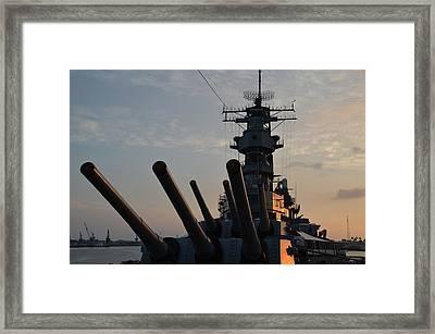 Uss Missouri Pearl Harbor Hi Framed Print