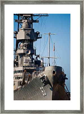 Uss Missouri, Pearl Harbor, Honolulu Framed Print by Panoramic Images