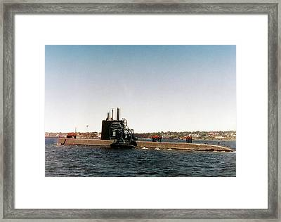 Uss Nautilus Submarine Framed Print by Us Navy